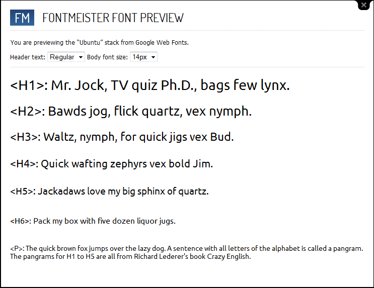 1. FontMeister