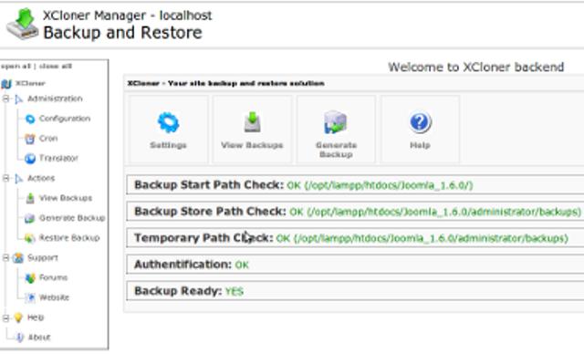 2. XCloner - Backup and Restore