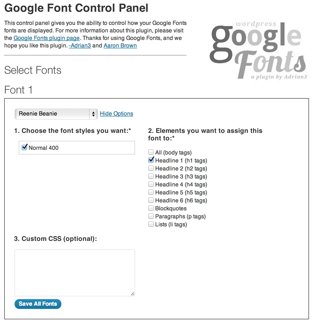 3. WP Google Fonts