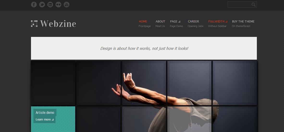 Webzine Magazine & Portfolio