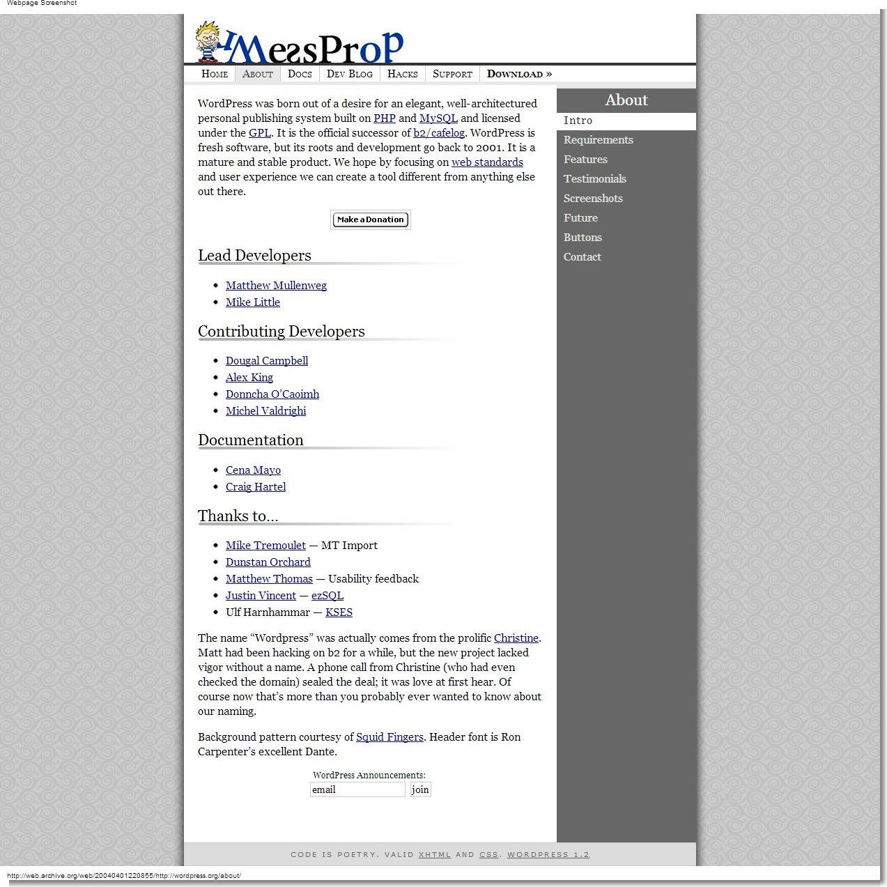 March 24, 2004 - WordPress - About