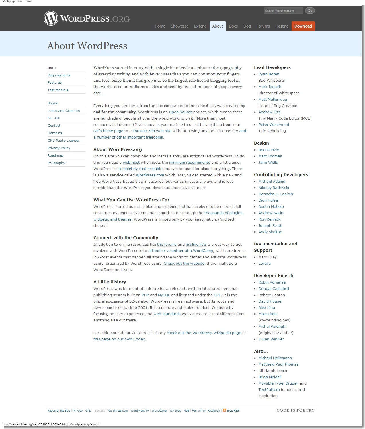 May 10, 2010 - WordPress - About