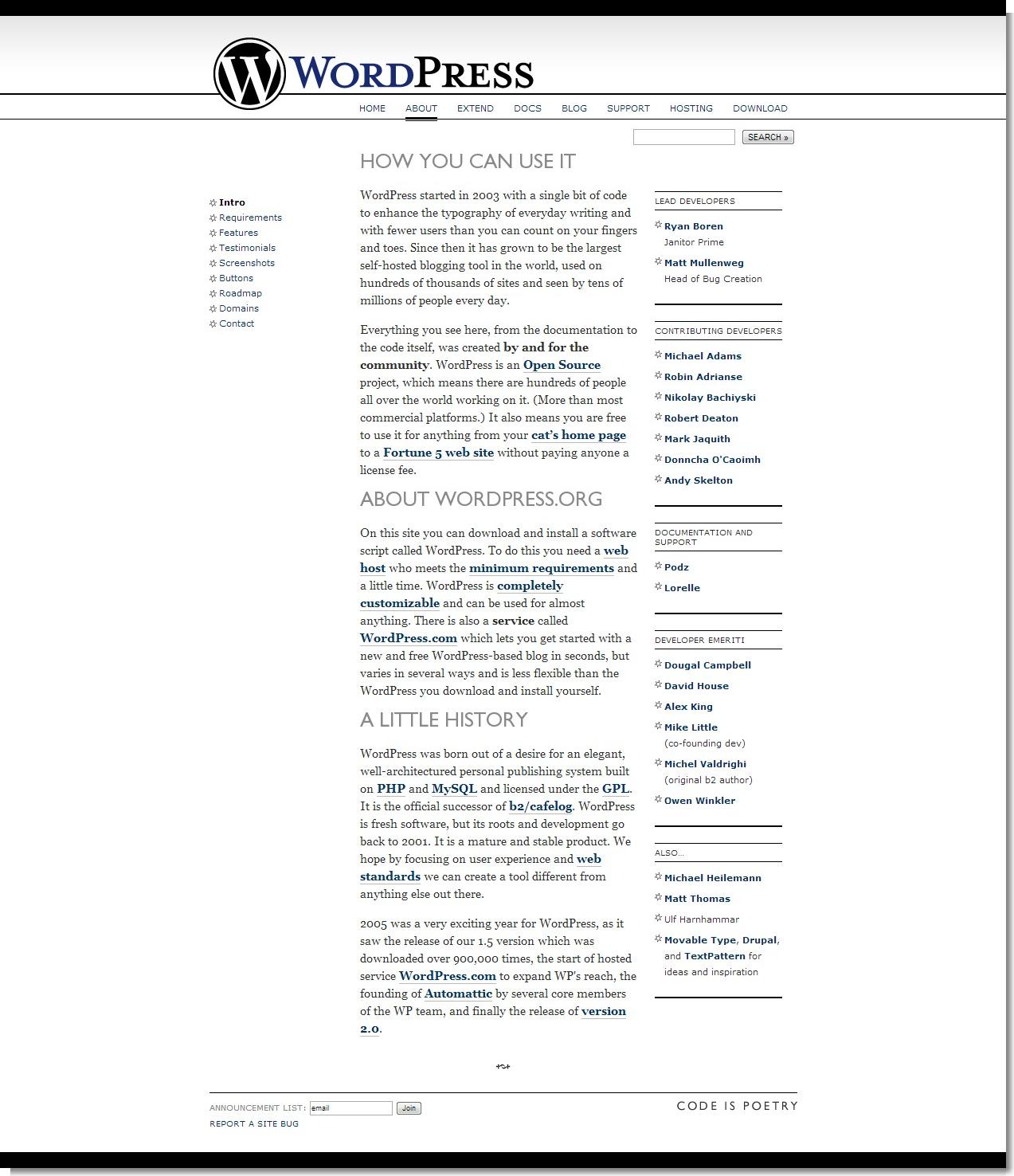 May 16, 2007 - WordPress - About