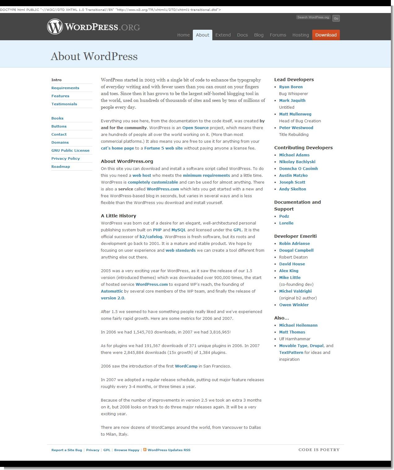 May 16, 2008 - WordPress - About