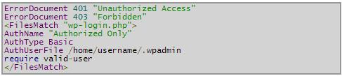WordPress-htaccess-file