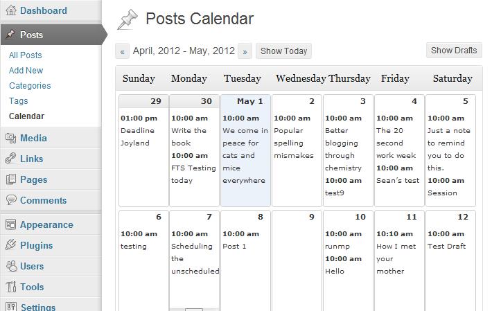 4. Editorial Calendar