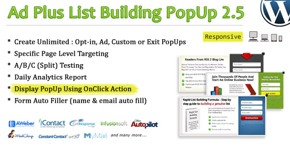 Ad Plus List Building Popup