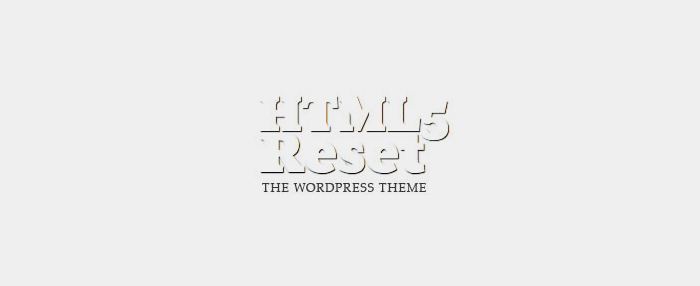 HTML5Reset WordPress Framework