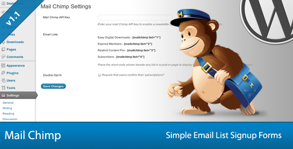 Simple Mail Chimp Signup Forms