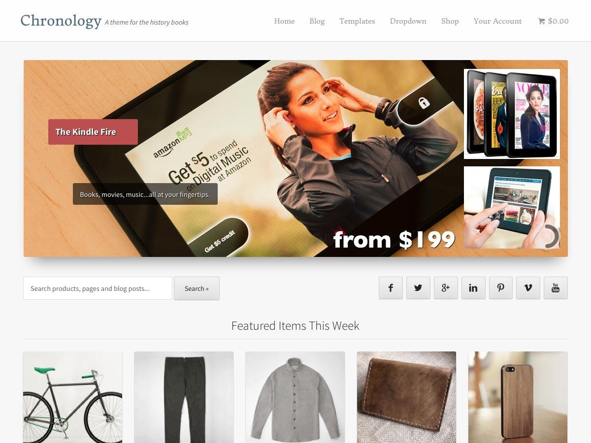 Storefront Chronology
