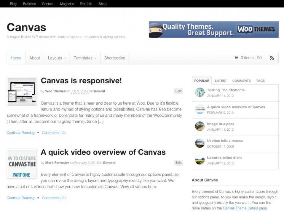 Canvas-WooThemes