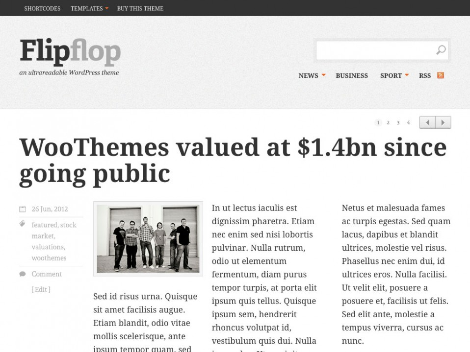 Flipflop-WooThemes