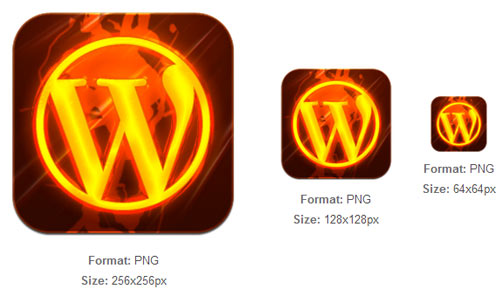 Burning WordPress Tile
