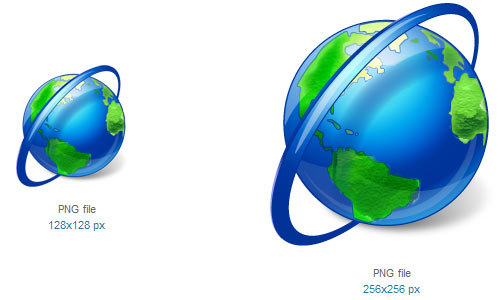 Globe Icon by Custom Icon Design