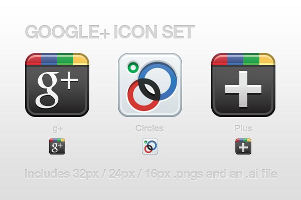 Google+ Icon Set by CreativeKaizen