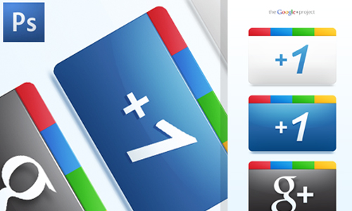 Google Plus + Icons Free PSD by jimmybjorkman