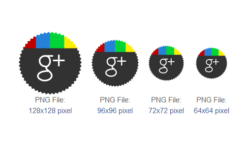 Google Plus Icons by DesignBolts