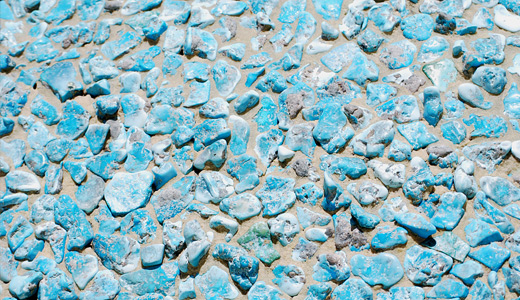 Mosaic Texture in Turquoise by chamberstock