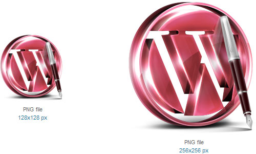 Red WordPress Icon by Svengraph