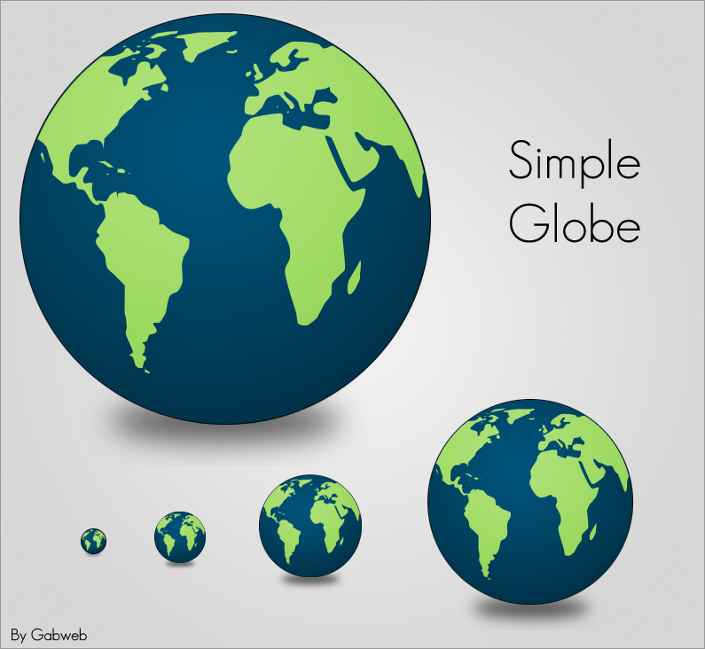 Simple Globe Icon by Gabweb
