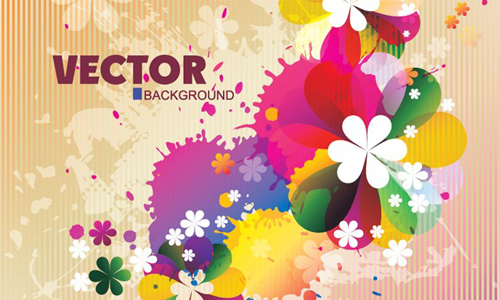 Spring Floral Background by vectorbg