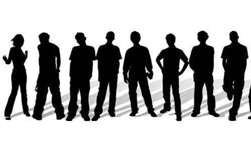 Stylish People silhouettes free vector by adstudio