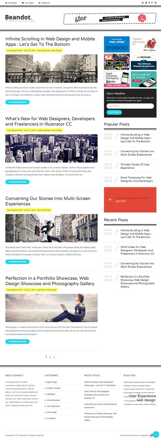 Beandot-FameThemes-WordPress-Theme