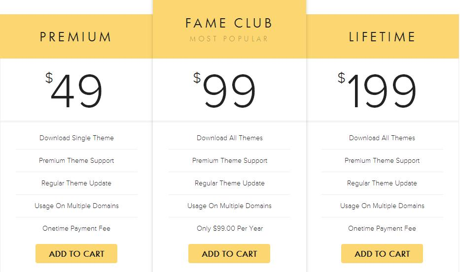 FameThemes-Pricing