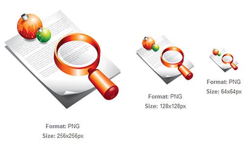 Document Search Xmas Icon