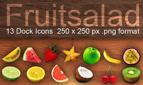 Fruitsalad Dock Icons