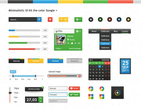 Google+ UI Kit
