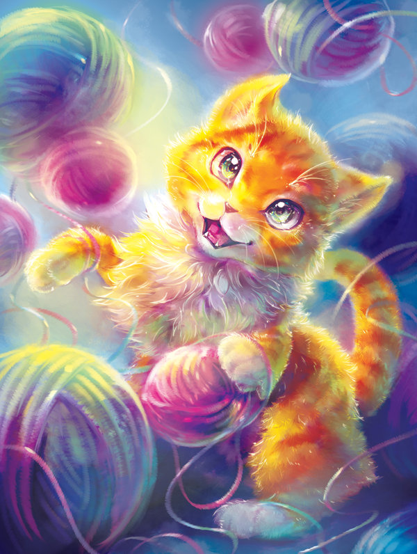 Dream of a Kitten Cover Illustration by Fany001