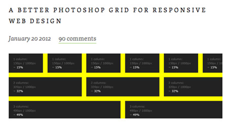 Responsive Photoshop Template