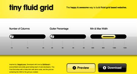 Tiny Fluid Grid Generator