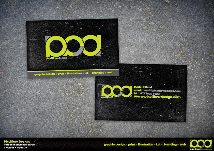 Pixelflow Design business card by crezo
