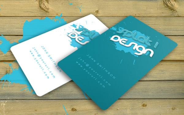 Splat Business Card with PSD. by robby-designs