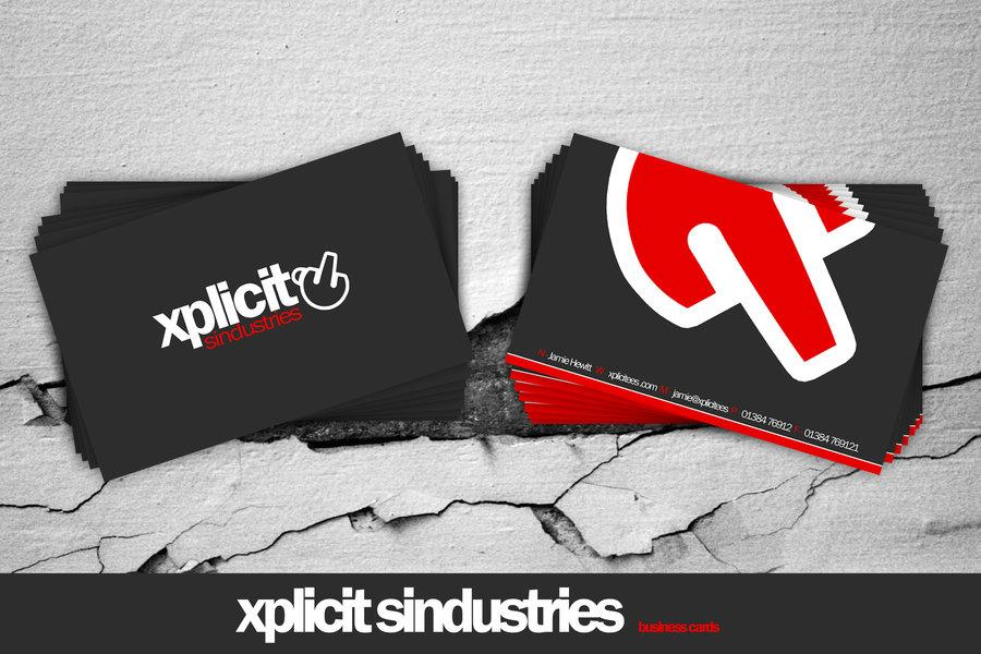 xplicit business cards by 7UR