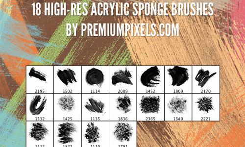 18 Free Acrylic Sponge Brushes