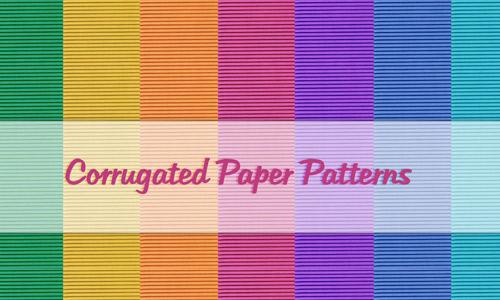 Corrugated Paper Patterns