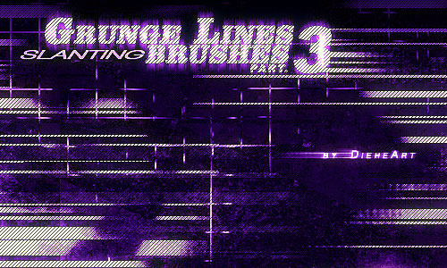 Grunge Lines Brushes Part.3
