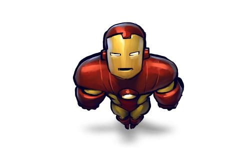 Comics Ironman Flying Icon
