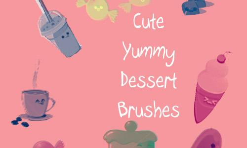 Cute Yummy Dessert Brushes