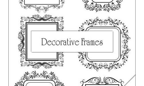 Decorative Frame Brushes