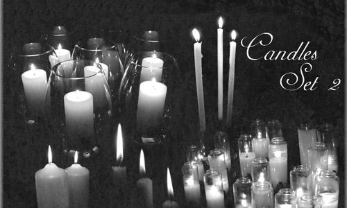 Candles Brushes Set 2