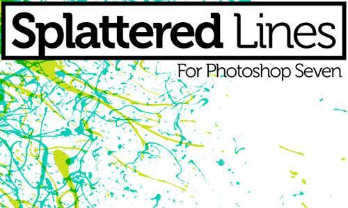 Splatter Line PS Brushes