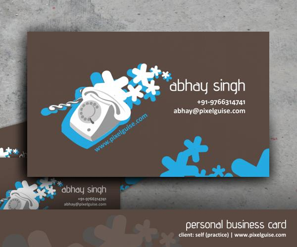 Visiting Card - Practice by AbhaySingh1