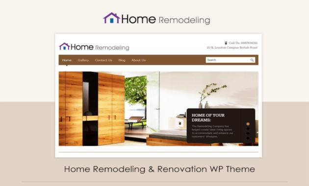 4. Home remodeling WordPress themes